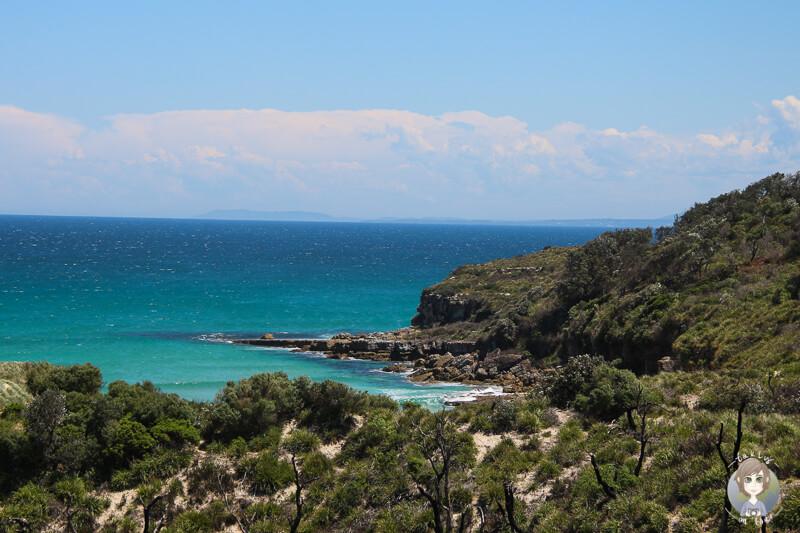 Aussicht auf die Bucht vom Cave Beach, Booderee Nationalpark, Australien