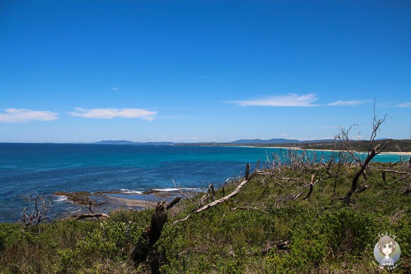 Aussicht auf die Buchten in Ulladulla, Australien