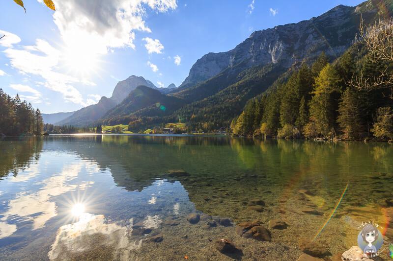 Toller Blick über den Hintersee im Nationalpark Berchtesgaden
