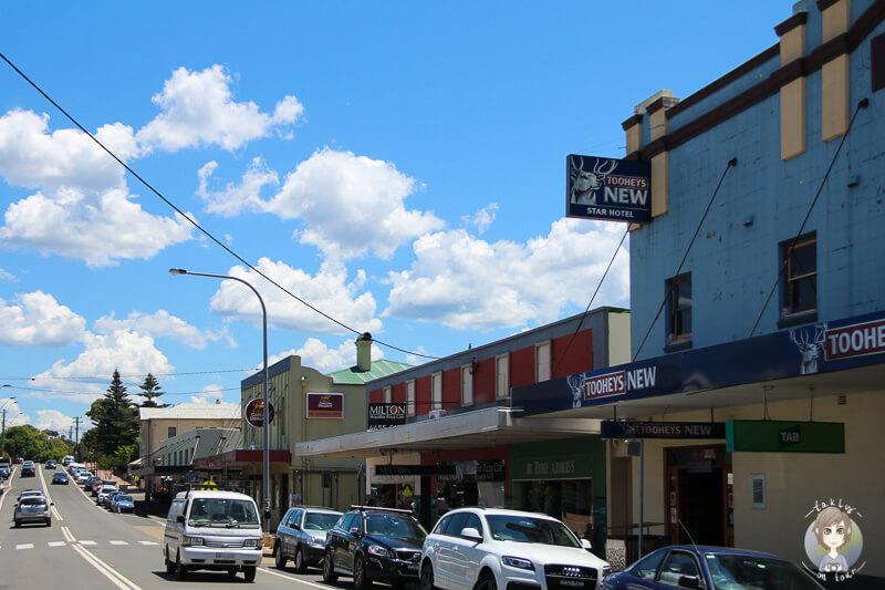 Fahrt durch Milton, NSW