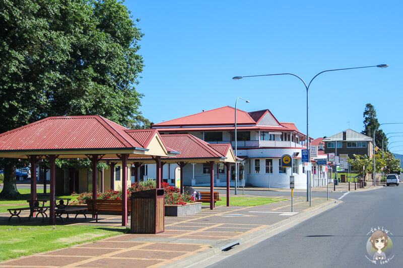 Fahrt durch Moruya, New South Wales, Australien