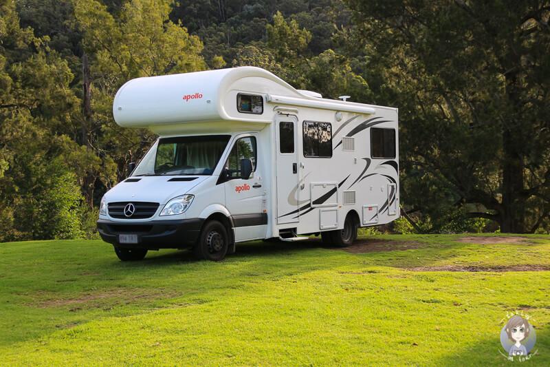 Mit dem Camper im Kangaroo Valley, NSW