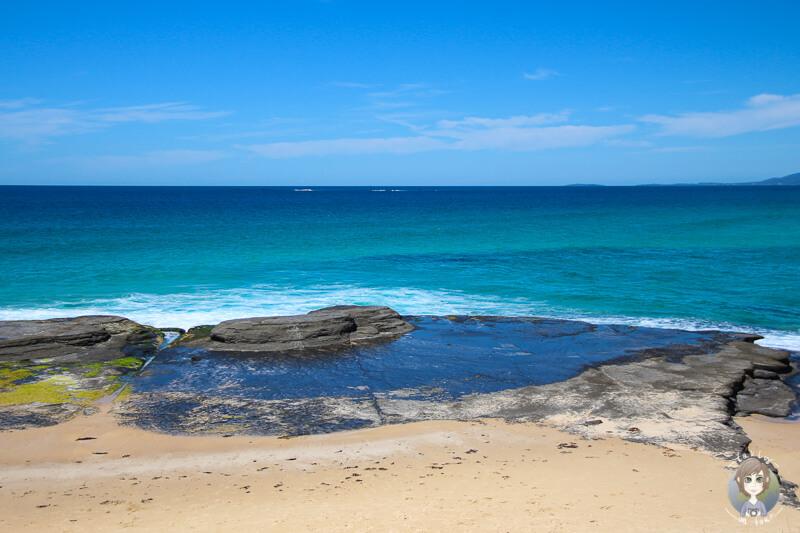 Kleiner Strand in Schöner Blick auf das Meer in Ulladulla