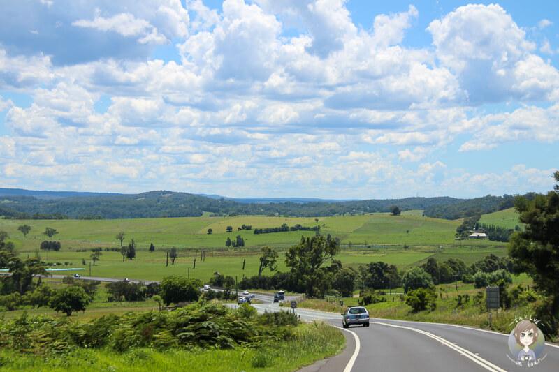 Tolle Aussicht auf der Fahrt zum Booderee-Nationalpark, NSW