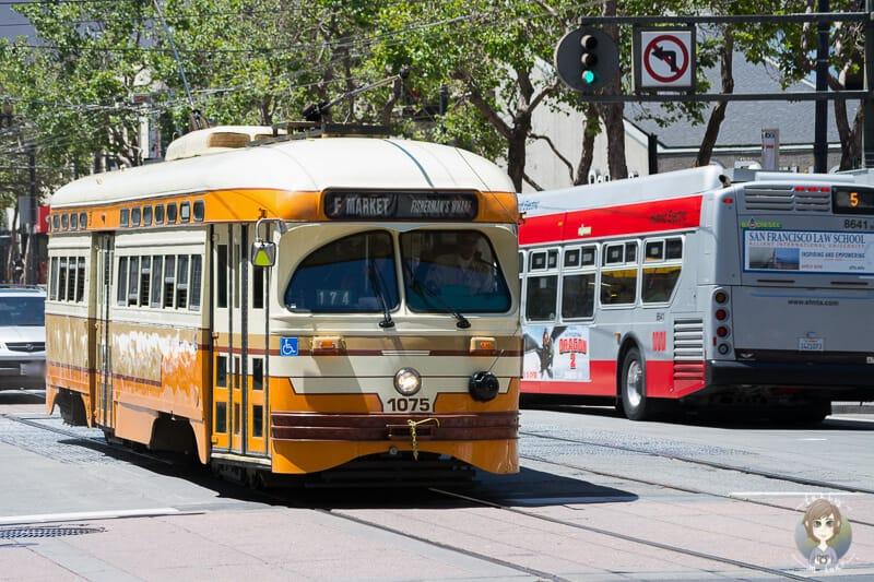 Eine Strassenbahn in San Francisco Tipps zur Anreise