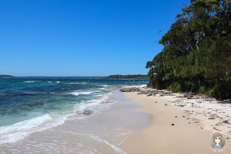 Weisser Sand Strand an der Murrays Bootsrampe, Booderee National Park