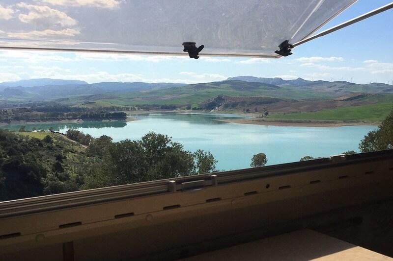 Toller Ausblick aus dem Wohnmobilfenster
