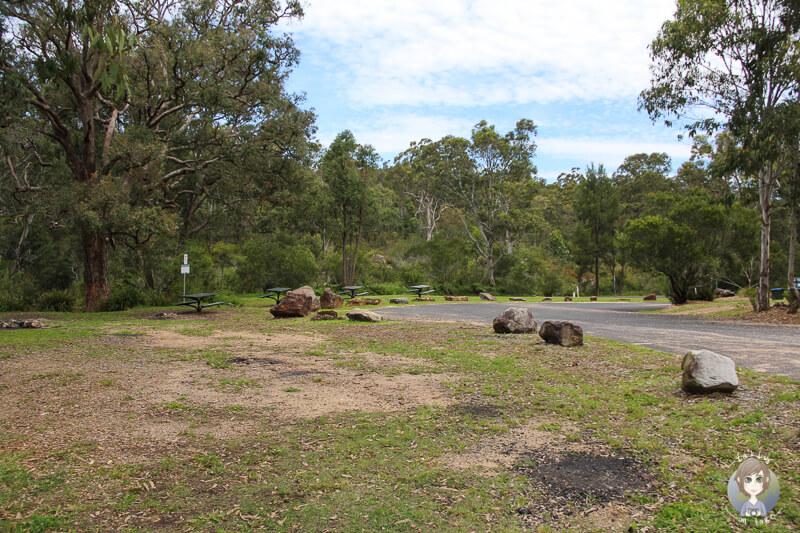 Campingplatz im Megalong Valley, NSW