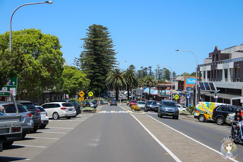 Fahrt durch Kiama, NSW, Australien