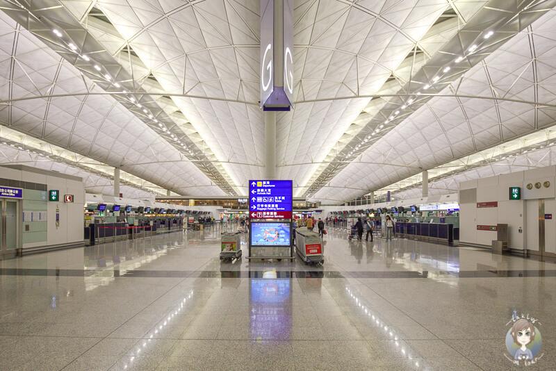 Ein Terminal am Flughafen hong Kong