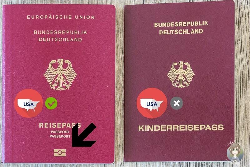 Ein elektronischer Reisepass und Kinderreisepass