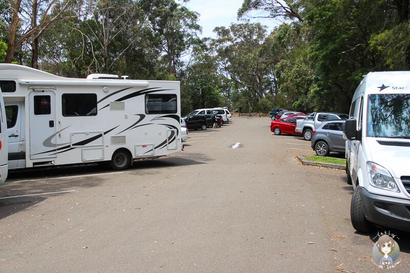 Parkplatz an dem Aussichtspunkt der Wentworth Falls in Australien