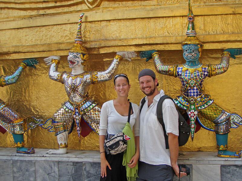 Auszeit als Paar auf Weltreise in Thailand am Koenigspalast