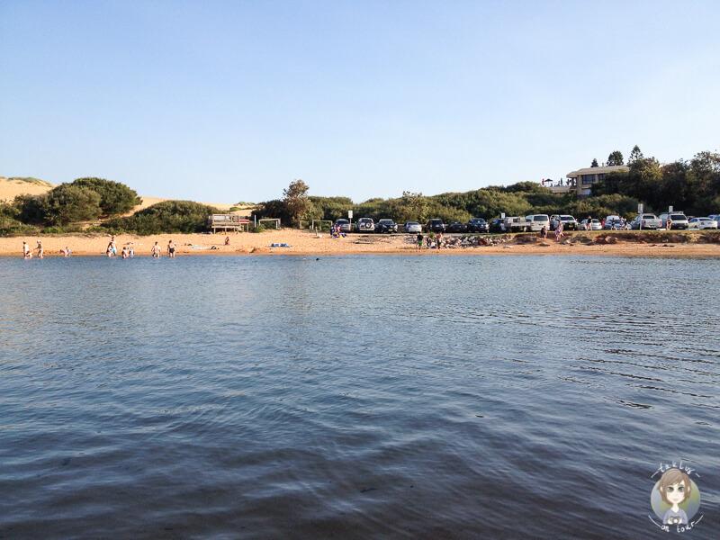 Bademoeglichkeit auf dem Campingplatz nahe Sydney Turimetta Beach