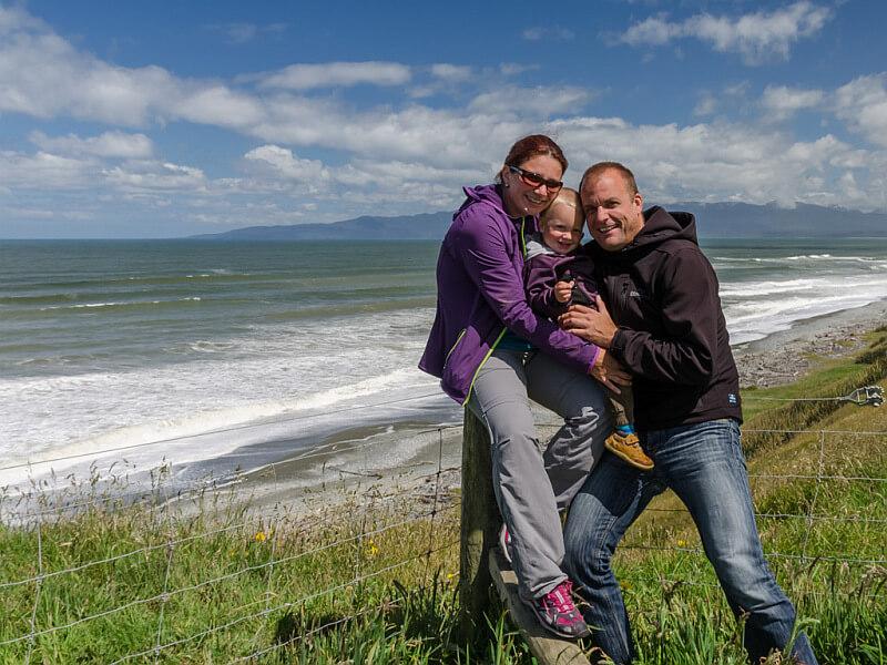 Elternzeit in Neuseeland am Meer die Traumteiler