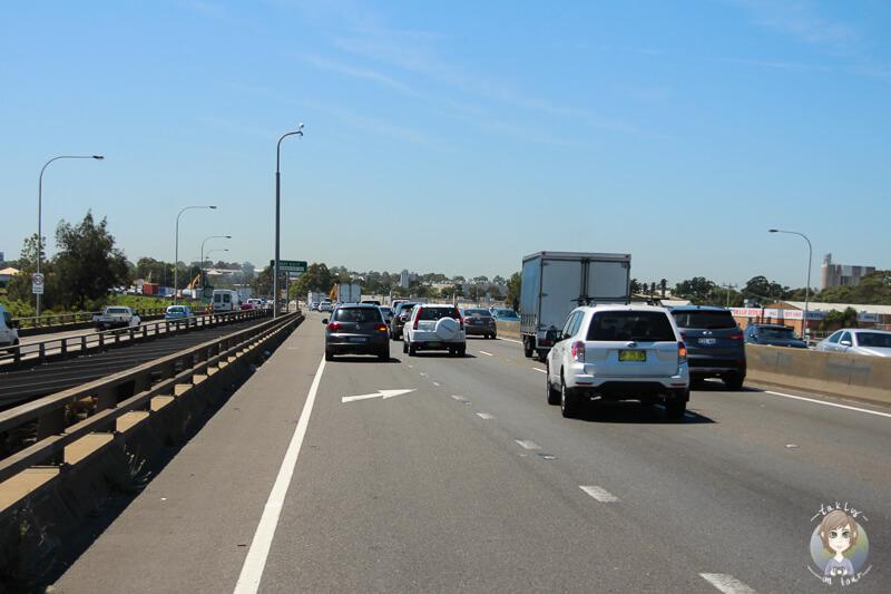 Viel Verkehr in Sydney