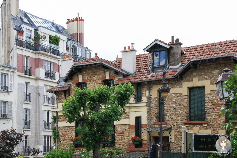 Sehenswerte Haeuser im Pariser Stadtteil Montmartre