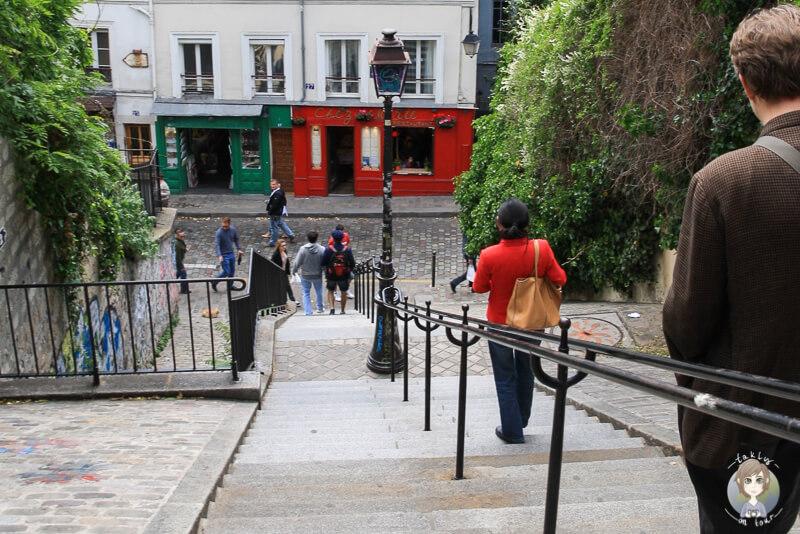 Stufen Kuenstlerviertel Montmartre Paris