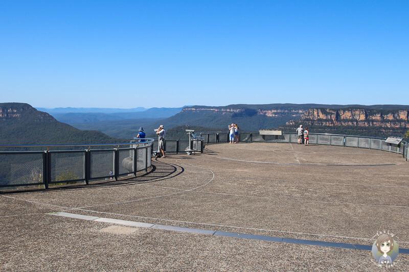 Aussichtsplattform am Aussichtspunkt Three Sister Blue Mountains