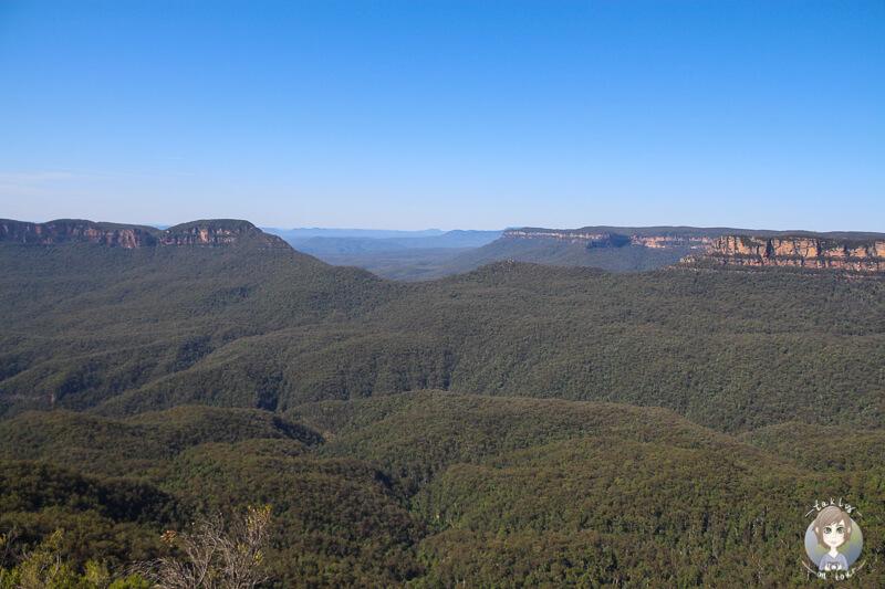 Aussicht vom Aussichtspunkt Three Sisters im Blue Mountains National Park