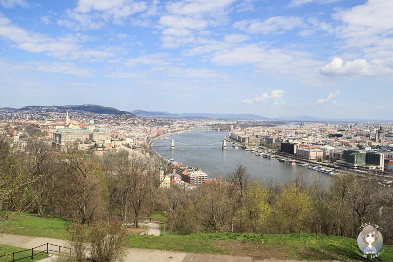 Aussicht Spitze Gellértberg Budapest