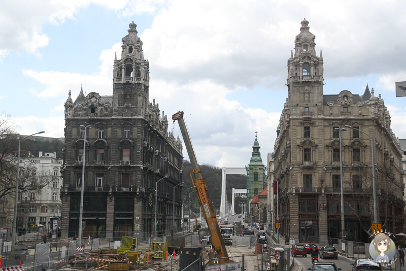 Bauarbeiten in Budapest