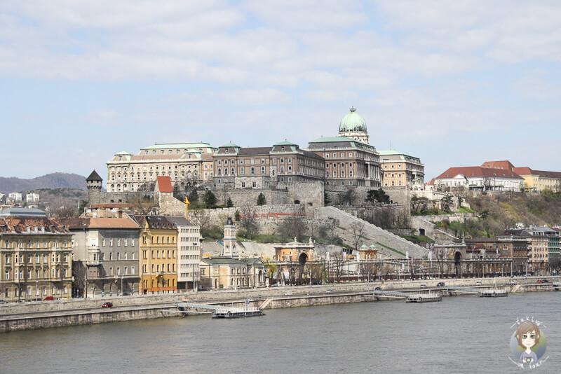 Toller Blick auf die Burganlage in Budapest