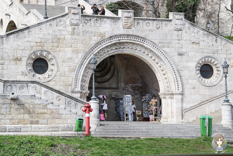 Souveniershop in Budapest unterhalb der Burg