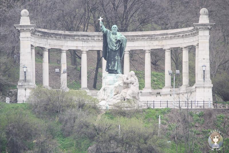 Ein Denkmal auf dem Burgberg von Budapest