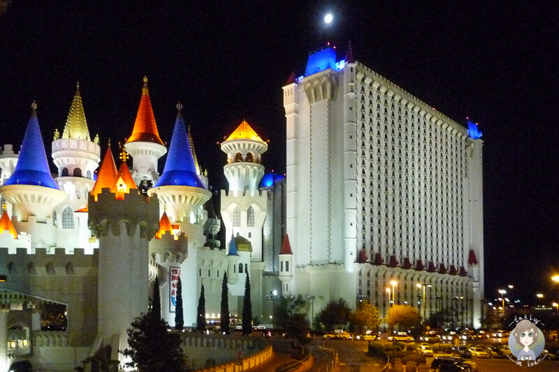 Das Excalibur Hotel in Las Vegas bei Nacht