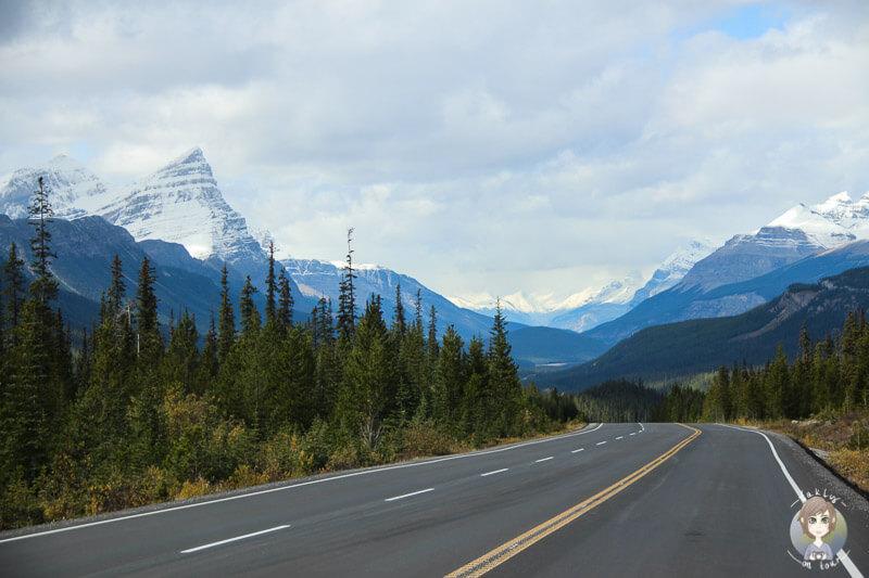 Fahrt über die Traumstraße in den Rocky Mountains