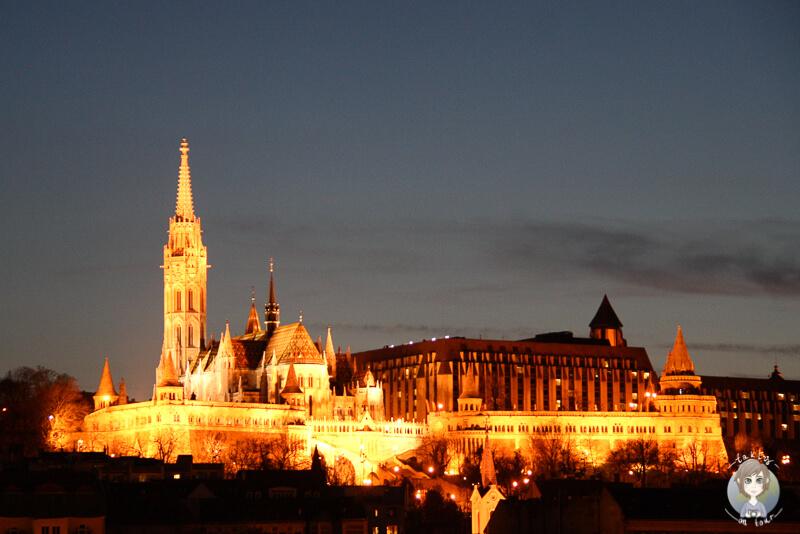 Fischerbastei Budapest Nacht