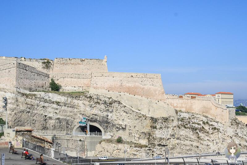 Blick auf das Fort Saint-Nicolas in Marseille