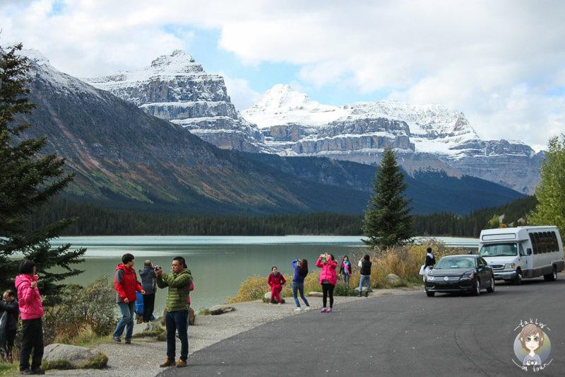 Fotostopp auf dem Icefields Parkway in Kanada