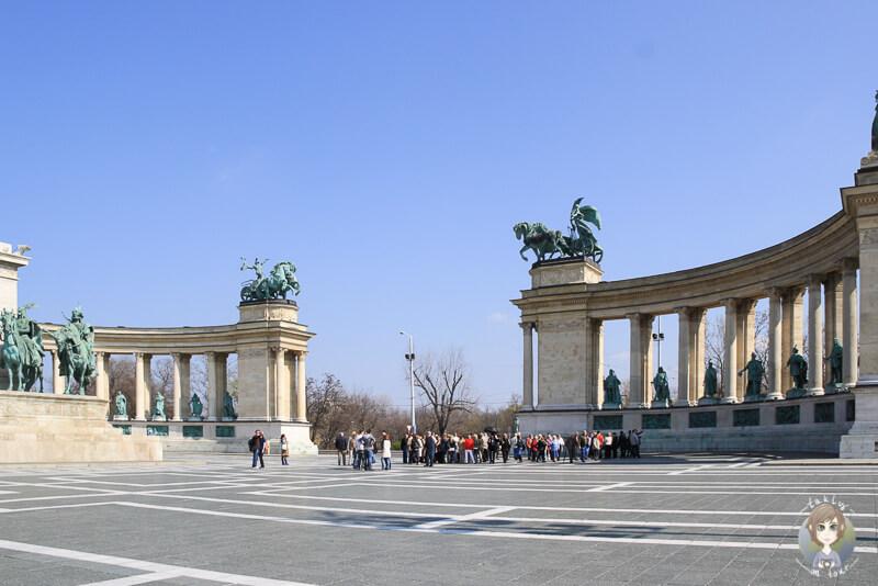 Der Heldenplatz in Pest Budapest