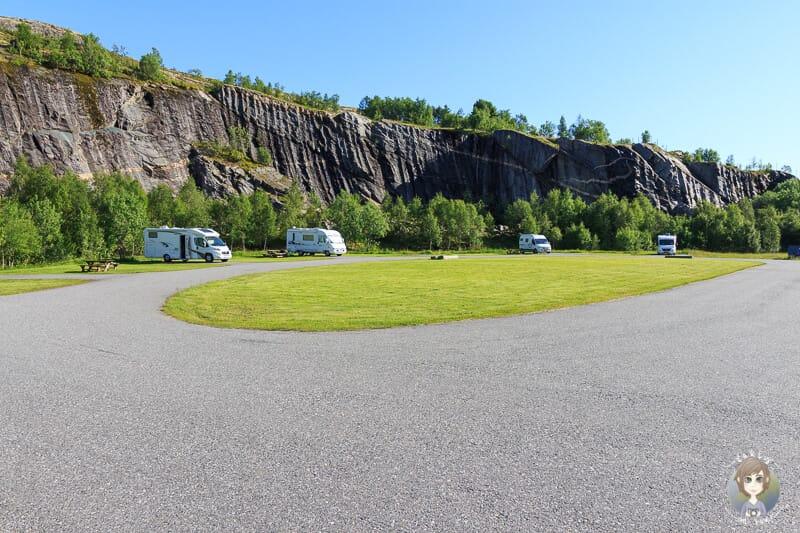 Stellplatz wo das Jedermannsrecht in Norwegen gilt