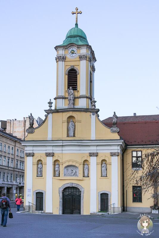 Eine sehenswerte Kirche in Pest, Budapest