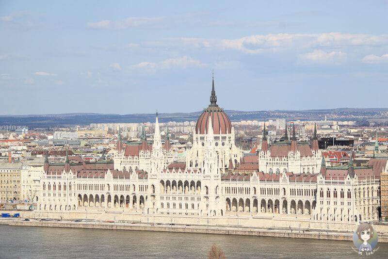 Parlament Budapest Blick Fischerbastei