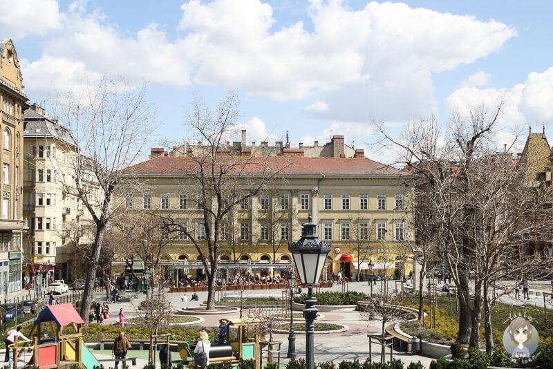 Kálvin tér ein Platz an der Donau in Pest