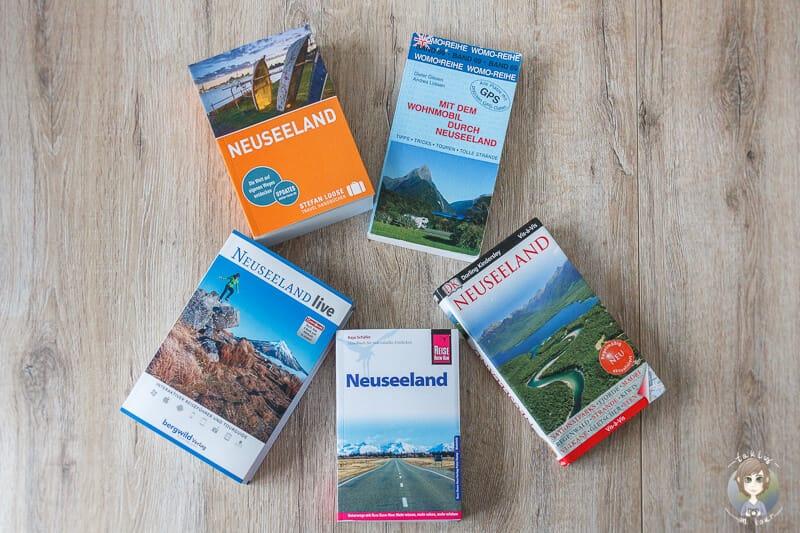 Fünf Reiseführer Neuseeland im Vergleich