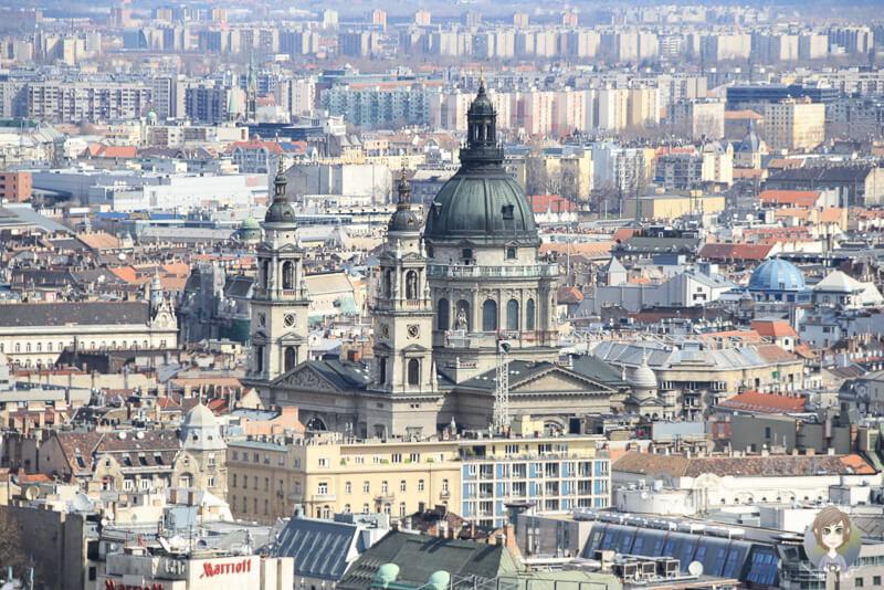 Sankt Stephans-Basilika Aussicht Gellértberg Budapest