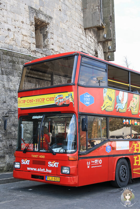 Unser Sightseeing Bus in Budapest