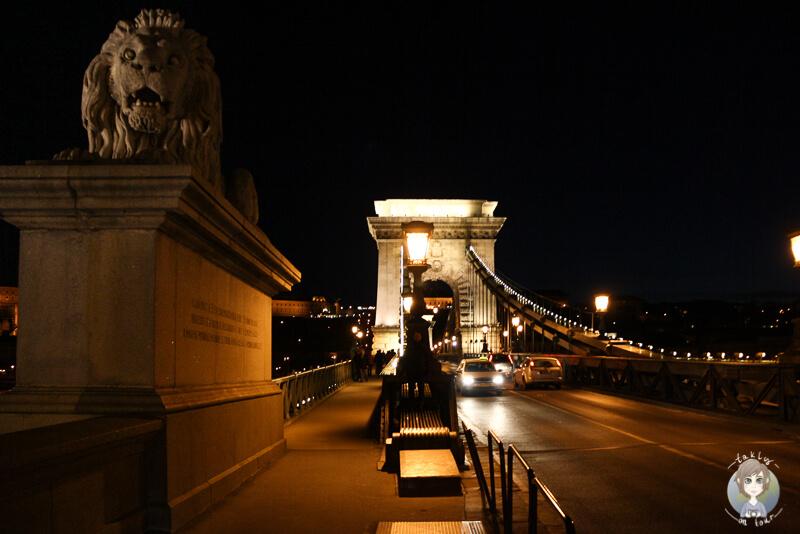 Spaziergang Nacht Kettenbruecke Budapest