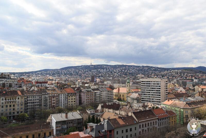 Aussicht auf den Stadtteil Buda vom Burgberg Budapest
