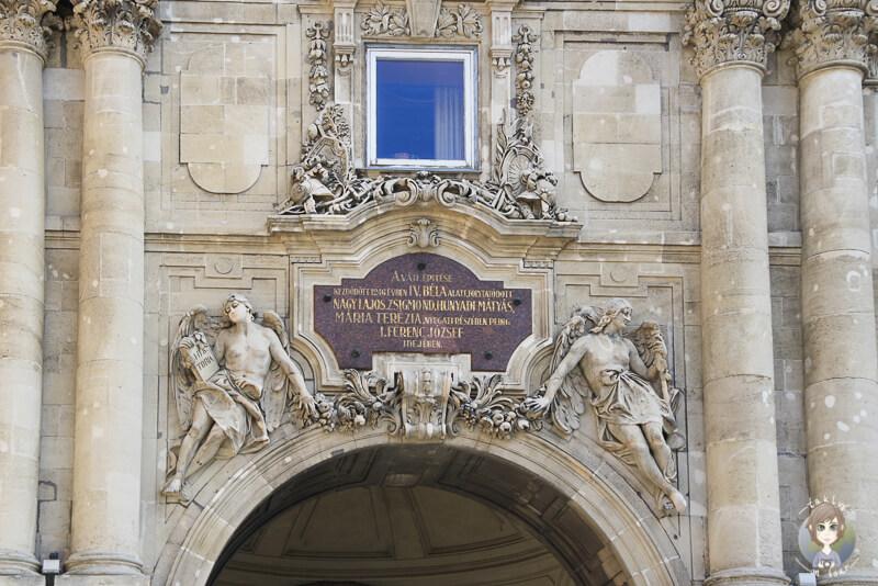 Statuen Burgpalast Budapest