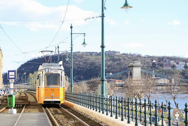 Straßenbahnlinie in Budapest