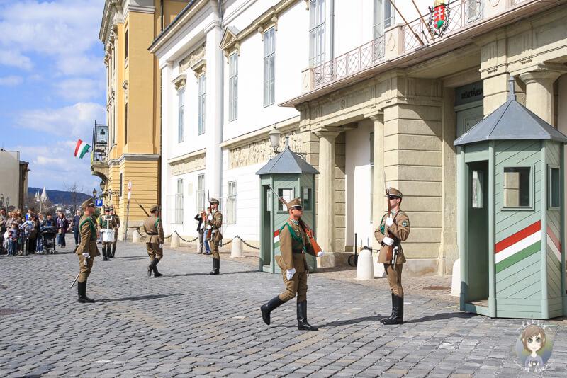 Wachabloesung Burgpalast Budapest