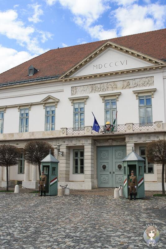 Wachen Burgpalast Budapest