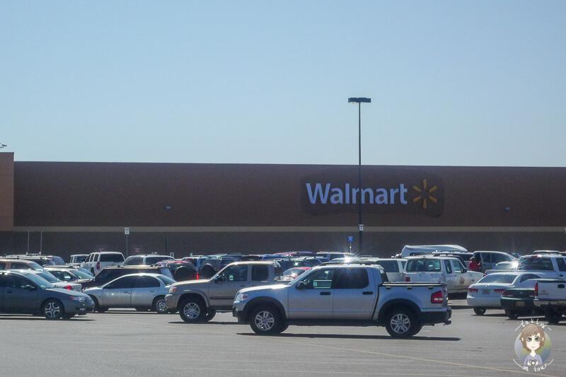 Ein Parkplatz bei Walmart