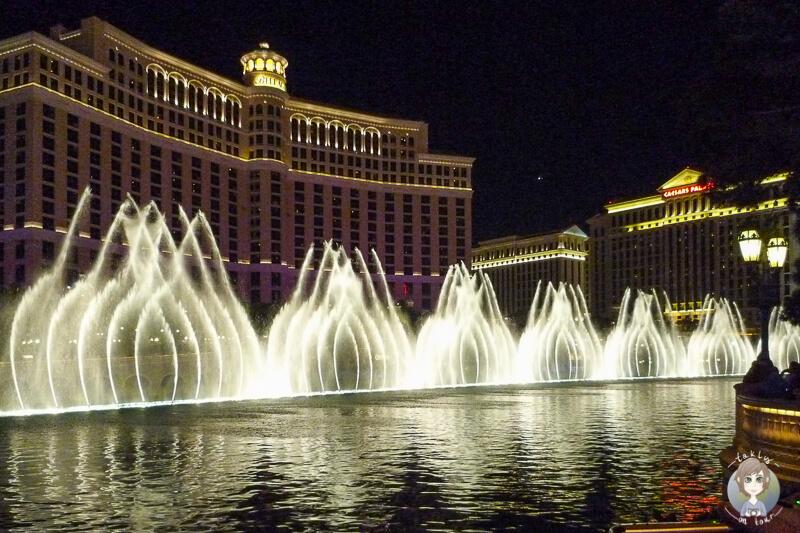 Die Wassershow vor dem Hotel Bellagio in las Vegas